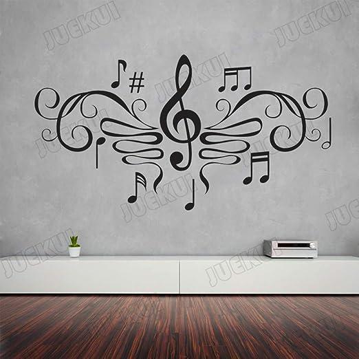 Notas Musicales Patrón Elegante Pegatinas de Pared Extraíbles para ...
