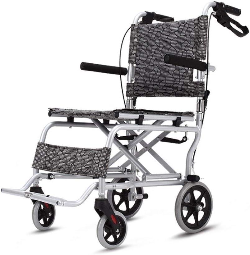 Bicicletas Silla de Ruedas Plegable Silla de Ruedas para los Ancianos Silla de Ruedas portátil Trolley Ultraligero para Viajes (Color : Gray, Size : 88 * 52 * 90cm): Amazon.es: Hogar
