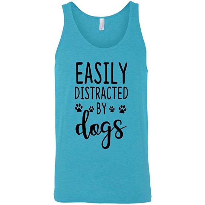GAA Gifts Easily Distracted Dogs Lover Birthday Gift Tank Top Men Women