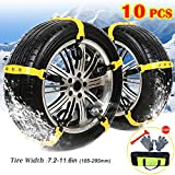 BESAZW [Newest Version] Car Snow Chains Portable Adjustable Tire Chains For Car/SUV/Truck Anti Slip Commercial Truck Accessories 10 PCS