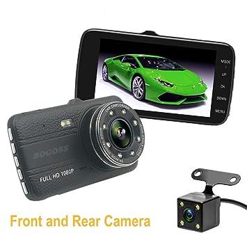 Cámara de coche 1080P Full HD cámara de salpicadero delantera y trasera de doble lente DVR