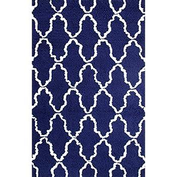Amazon Com Superior Hand Woven And Soft Shag Rug Trellis