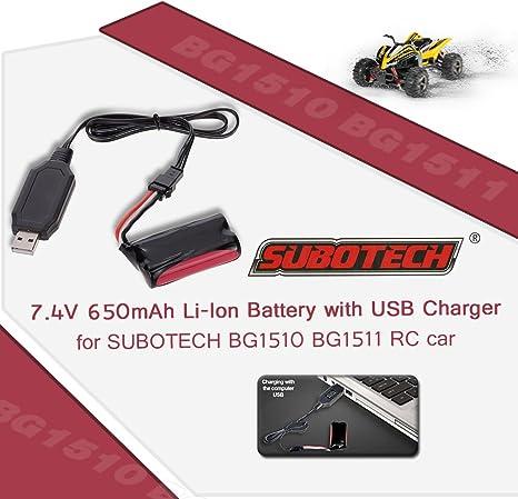 Goolsky SUBOTECH 7.4V 650mAh Li lon Batterie avec Chargeur