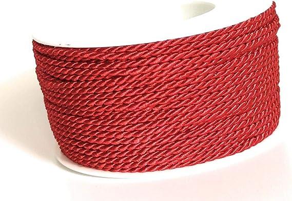 5m Kordel Schleifenband 0,25 €//m rot 2mm Dekokordel Weihnachten