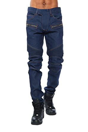 82ed3276 Kayden K Mens Guys Italian Raw Denim Slim Biker Jeans Pants KD523 at Amazon  Men's Clothing store: