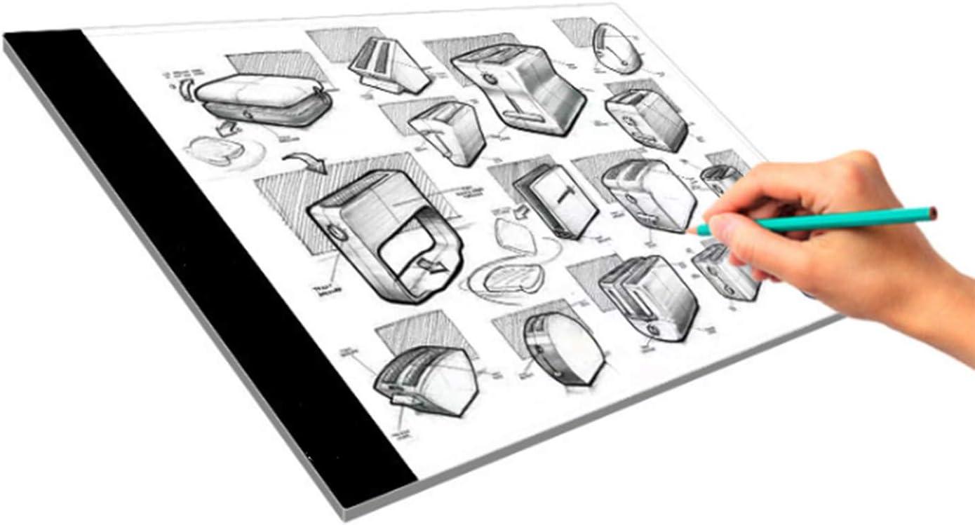 FairytaleMM Ultra-mince A4 LED Peinture Conseil Tracer Copie Panneau Panneau Dessin Tablette Art Artcraft Pochoir pour Artiste Dessinateur