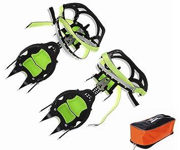 BRS Edición Profesional Catorce dientes Crampons de hielo Cubiertas para zapatos de nieve para invierno Gripper BRS-S1A yhGrtyEW