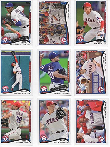 Texas Rangers 2014 Topps MLB Baseball Regular Issue Complete Mint 20 Card Team Set with Jurickson Profar, Adrian Beltre, Yu Darvish Plus
