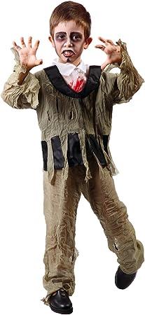 GUIRMA - Disfraz de zombi para niño, talla 7-9 años (81234 ...