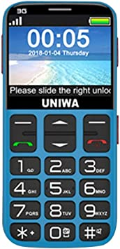 Momorain Teléfono móvil V808G Teclado Ruso Teléfono 3G WCDMA ...