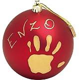 Baby Art Pallina di Natale in Plastica, Set per Disegnare Impronta Bambino, Rosso