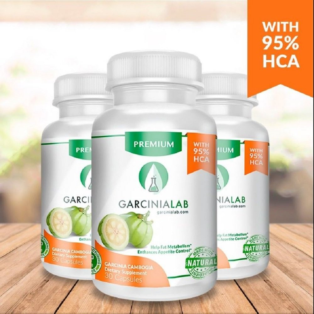 Garcinia Cambogia 3 Pack 95% HCA 100% Pure Premium Extract for Fast & Effective