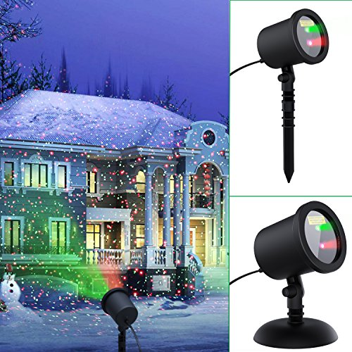 COOWOO-Christmas-laser-lights-Projector-Waterproof-Red-and-Green-Star-Laser-Show-Xams-for-Christmas-Holiday-Party-Landscape-and-Garden-Decorations