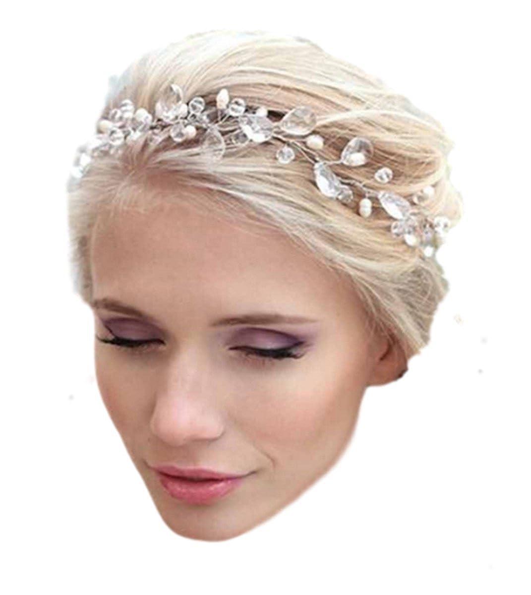 Damen Haarschmuck Haarband Haarreif Haarbänder Haardeko Kristallen Hochzeit Braut Kristall Perlen Edel Edelschmuck Schmuck Accessoires Fashion Jewery HGZ-0293