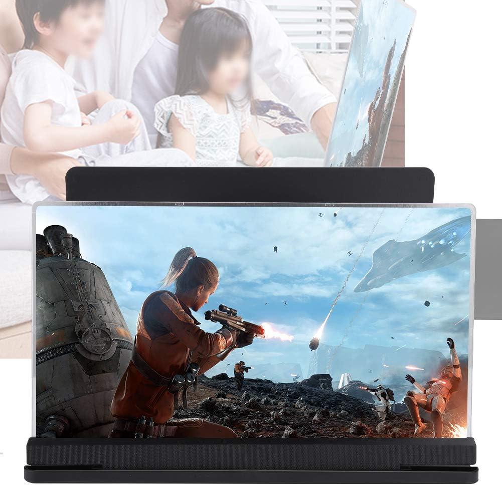 Garsent Loupe de T/él/éphone Noir 18X 14in /Écran de t/él/éphone Intelligent Magnifixer 3D Loupe d/écran Compatible avec Tous Les t/él/éphones intelligents.