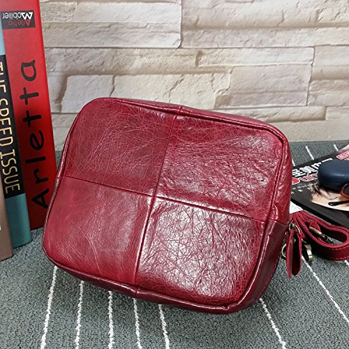 DJB/ Mini frischen runden weiblichen Baodan Lederumhängetasche Messenger Bag Handtasche