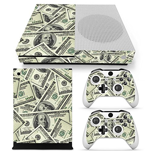 Chickwin Xbox One S Skin Vinyl Decal Full Body Cover Sticker For Microsoft Xbox One S Console and 2 Controller Skins (US Dollar) (Plug Glow Rossi)