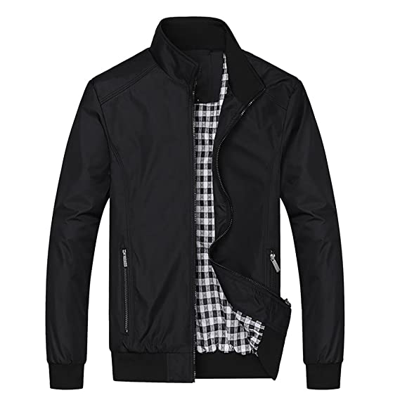 900c0ad0a4a5f9 Nantersan Mens Casual Jackets Lightweight Slim Fit Bomber Jackets Coats  Classic Outerwear Windbreaker  Amazon.co.uk  Clothing