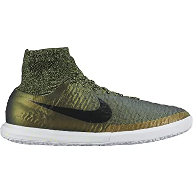 buy online ab61b 09828 Nike Men s Magistax Proximo IC Football Boots, Green Gold (Dark Citron Black