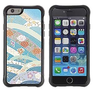 """Pulsar iFace Series Tpu silicona Carcasa Funda Case para Apple iPhone 6+ Plus(5.5 inches) , Cielo azul de las flores Tonos"""""""