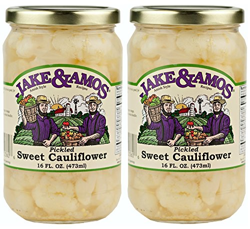 Jake & Amos - Sweet, Pickled Cauliflower/ 2 - 16 Oz. Jars (Pickled Sweet)