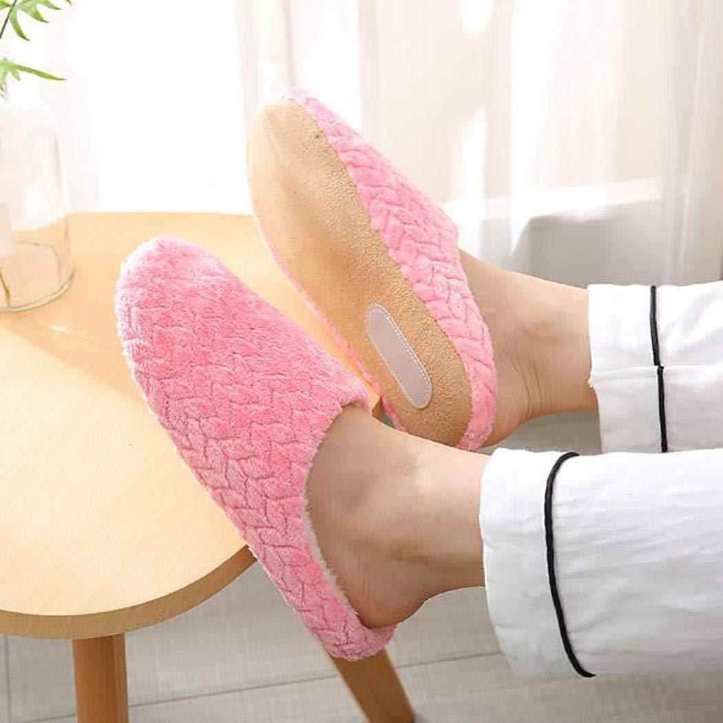 Haonike Zapatillas de algodón para el hogar Resistentes al Desgaste, Suaves, cálidas, Suaves y Unisex de Moda Zapatillas de Estar por casa