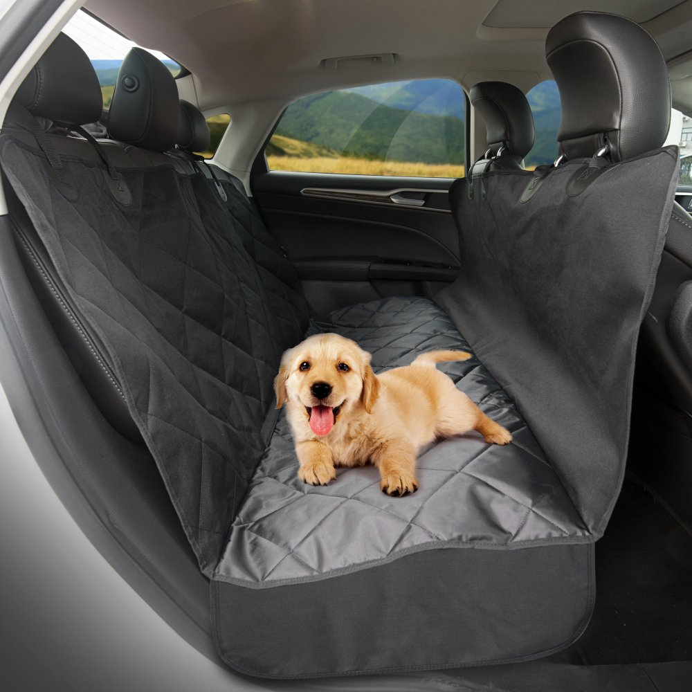 TaoTronics Back Seat Cover for Dogs, 100% Waterproof, Pet Seat Cover, Dog Car Seat Covers, Dog Hammock, Slip-proof, Scratch-proof, Stain-proof, for Most Cars(approximately 54x58 inches) by TaoTronics (Image #2)