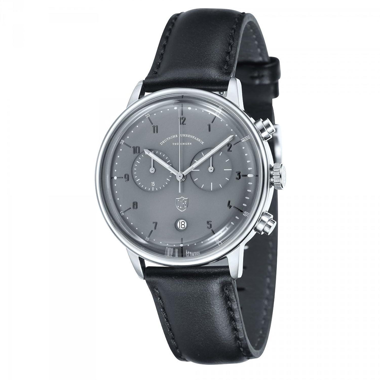 Dufa Deutsche Uhrenfabrik Unisex-Armbanduhr Chronograph Quarz Leder Hannes Chrono DF-9003-08