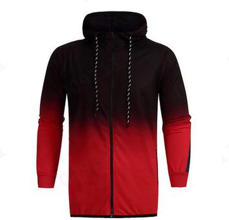 Men Long Sleeve Hoodies Casual Coat Top Plus Size Pullovers
