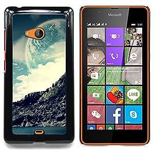 """Qstar Arte & diseño plástico duro Fundas Cover Cubre Hard Case Cover para Nokia Lumia 540 (Espacio Moon Mountain"""")"""