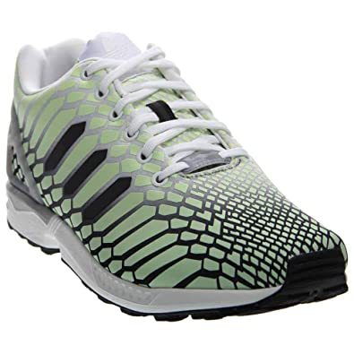 3b54a66c19bb9 adidas Mens ZX Flux Athletic   Sneakers White