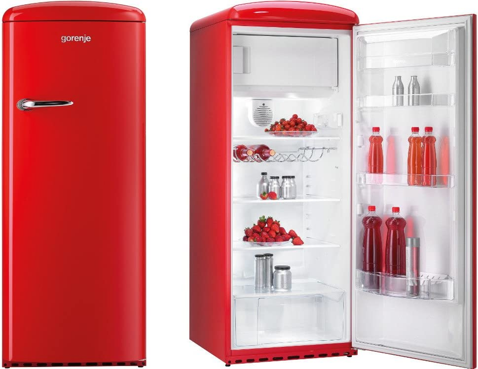 Gorenje Rb60299ord Retro Style Freestanding Fridge With Freezer Box In Fiery Red Amazon Co Uk Large Appliances