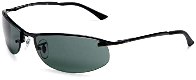 Ray Ban TOP BAR   MATTE BLACK Frame GREEN Lenses 63mm Non Polarized