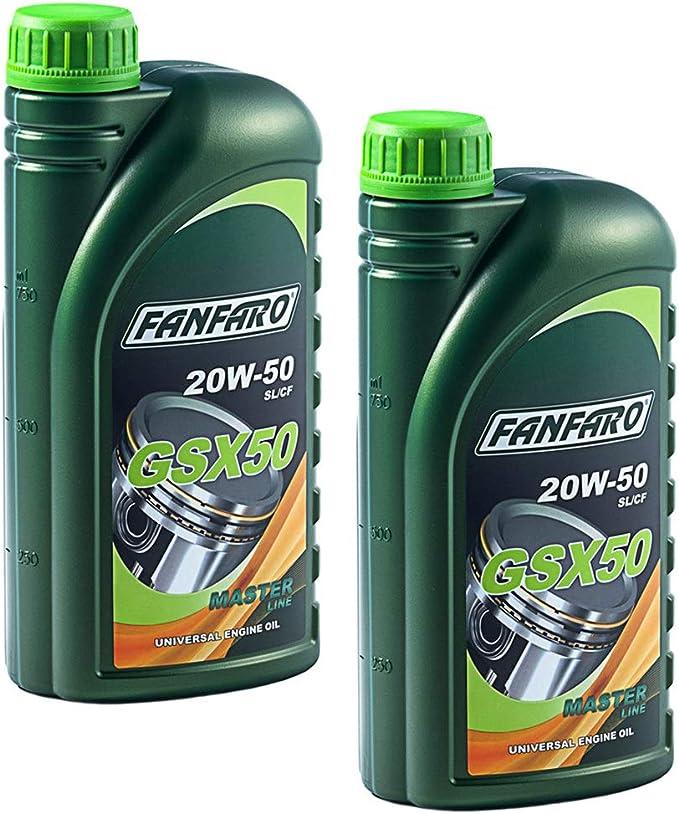 Fanfaro Motoröl Gsx 50 20w 50 Api Sl Cf 2 Stück á 1 Liter Auto