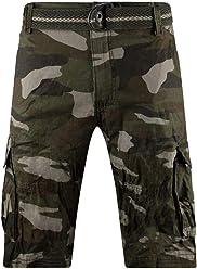 cd20812156aea3 New Men Cargo Cotton Shorts Free Belt Drawstrings 8 Colors Side Zipper