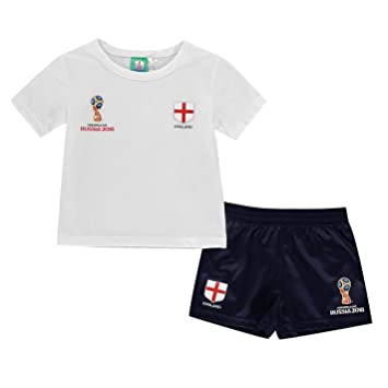 b7d613416 England Russia 2018 Mini Football Kit Infants Age 18 Months - 6 Years (2-