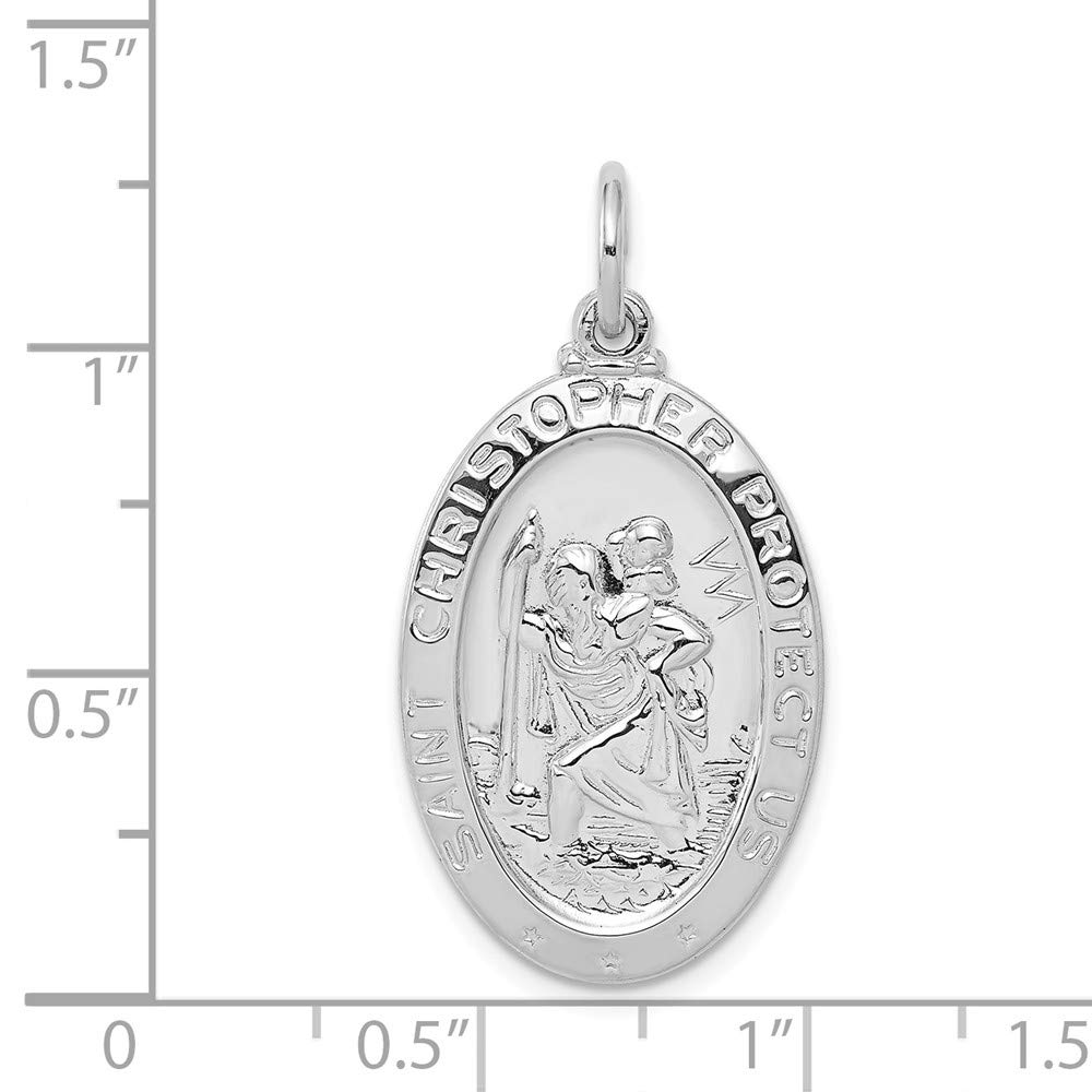 925 Sterling Silver Saint Christopher Medal Pendant Charm Necklace Religious Patron St Fine Jewelry Gifts For Women For Her