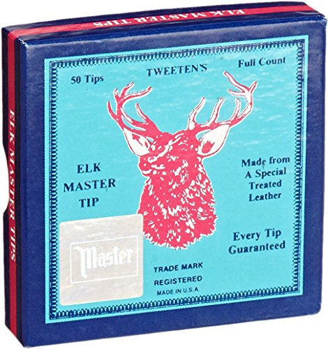 Tweeten Elk Master 12 mm Soft Leather Billiard/Pool Cue Tips, Box of 50