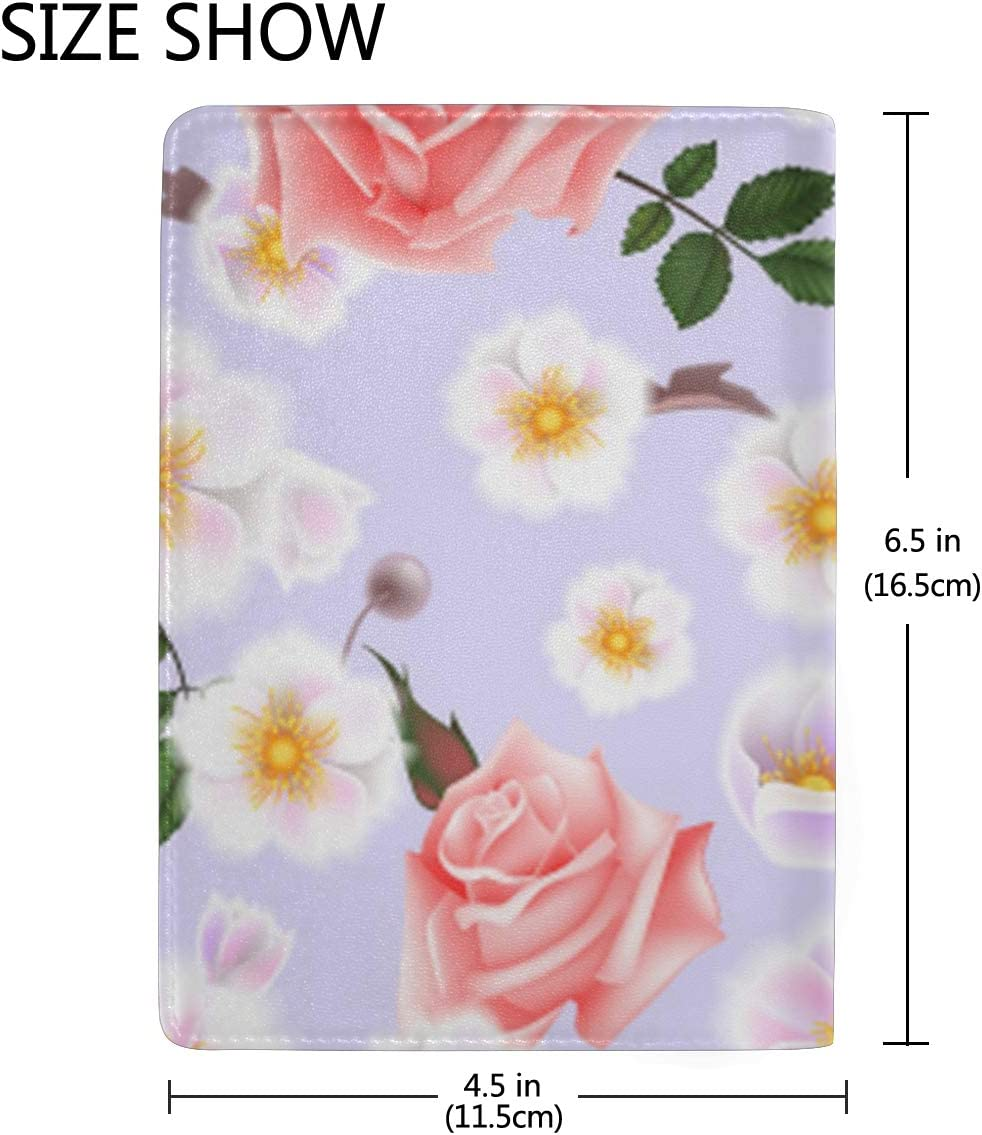 Big Flower Huatao The Sea Multi-purpose Travel Passport Set With Storage Bag Leather Passport Holder Passport Holder With Passport Holder Travel Wallet