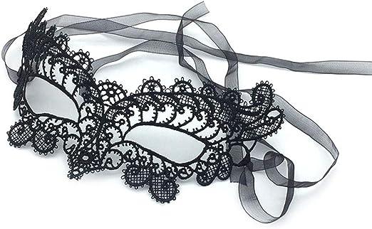 Venitian Mardi Gras Style Black Lace Fox Eye Mask