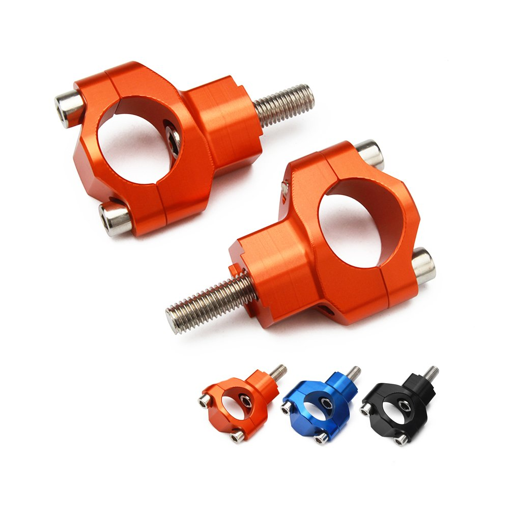JFG RACING 1 1/8' 28mm CNC HandleBar Risers Bar Mounts Clamps For KTM 125-530 SX SXF EXC EXCF XCW XCFW 00-16