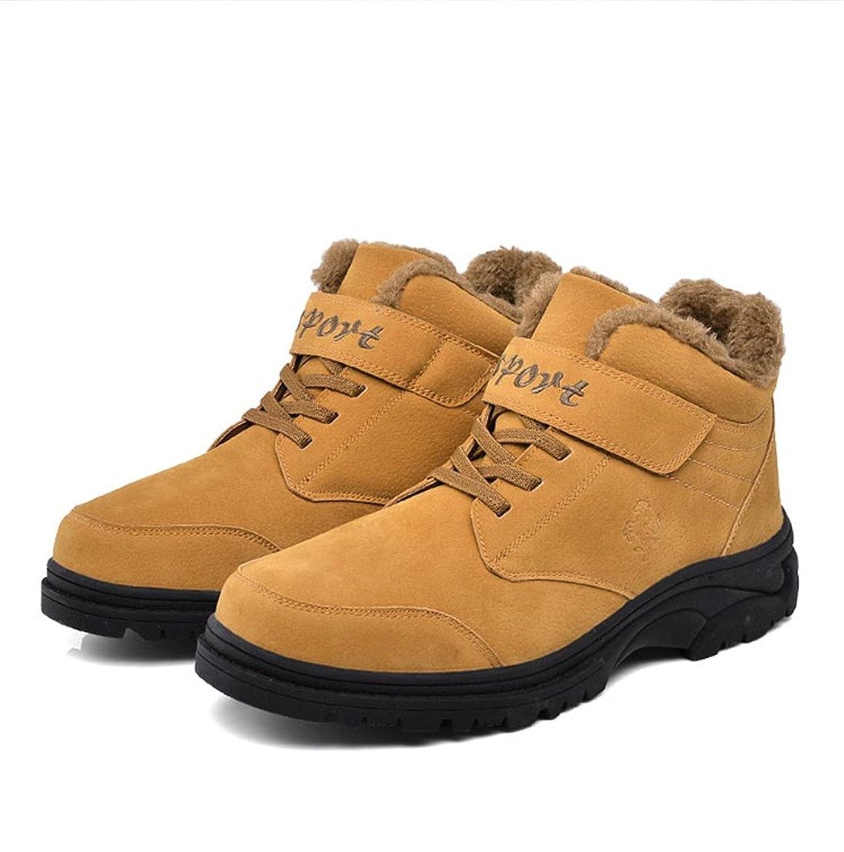ZanYeing Winterschuhe Warm Gefütterte Herren Outdoor Boots Freizeitschuhe Klettverschluss Sneakers Hohe Schuhe Stoßdämpfung Schneestiefel IPO1Rhkz1