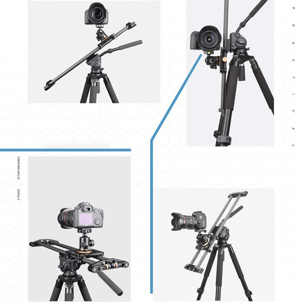 Color : #1, Size : C DSLR Track Dolly Carbon Fiber Camera Tie Rod Rail Mounting Plate Holder 5D2 5D3 7D Camera Accessories Kit Black