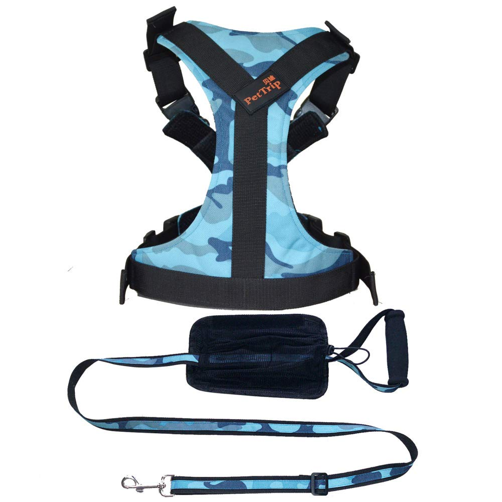 blueecamouflage Lneckcircumference34JXJL Padded Adjustable Pet Vest Harness With Handle Front Clip Harness For Large Dogs Training Or Walking,RedLneckcircumference3460bust3570cm