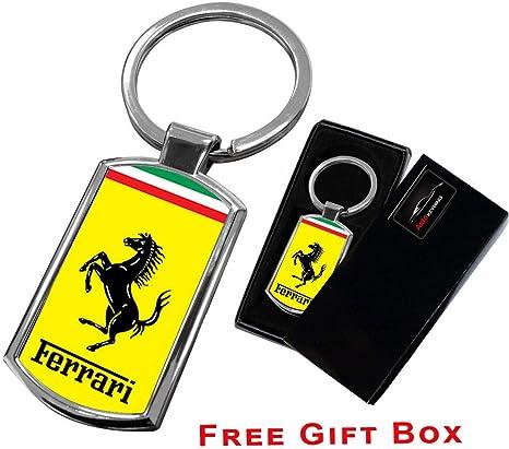 Cargifts Porte-cl/és Ferrari en m/étal chrom/é