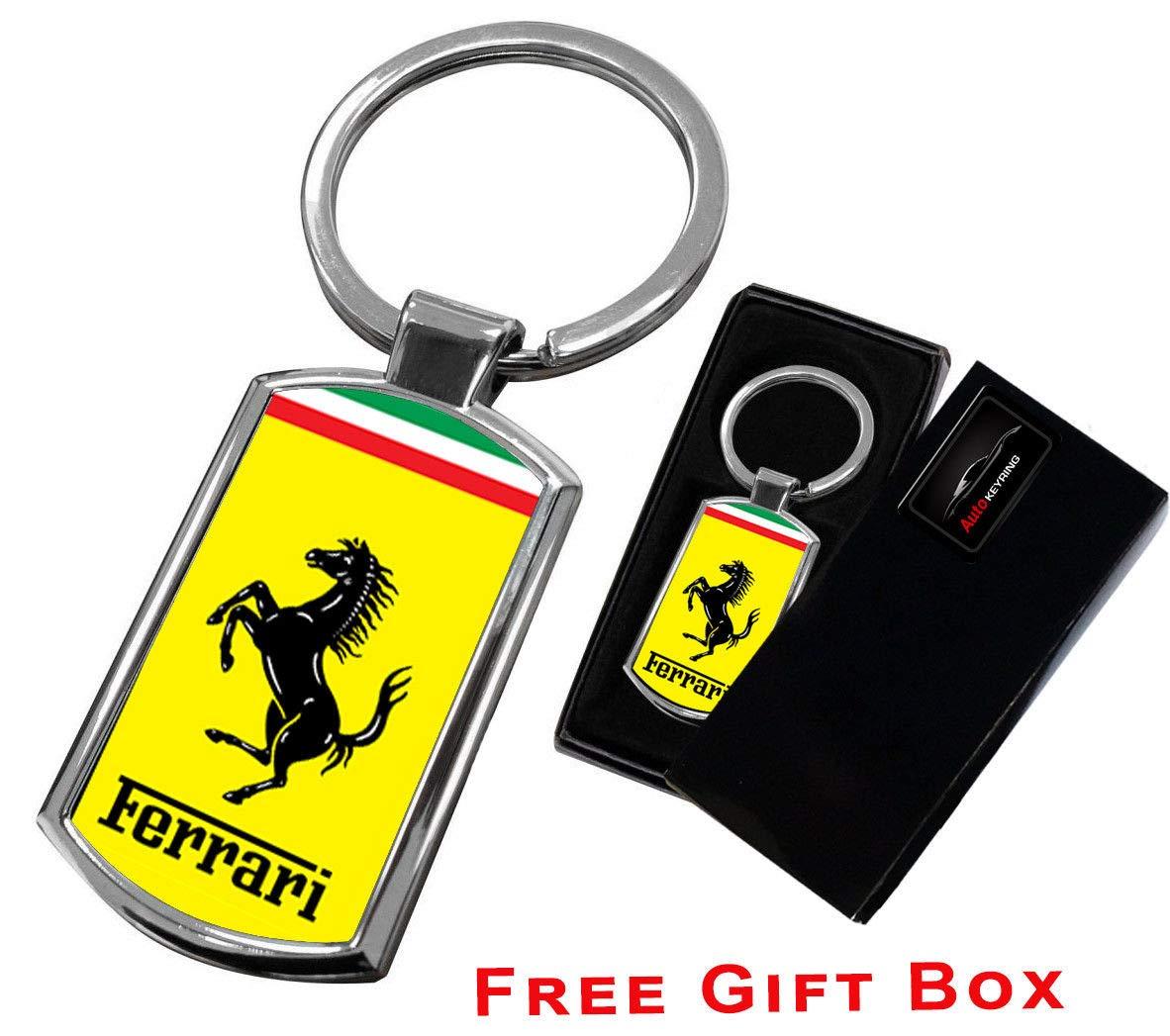 AUTOGIFTS Porte-cl/és avec Logo pour Ferrari