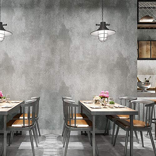 3d Retro Solid Color Cement Grey Wallpaper For Walls Roll
