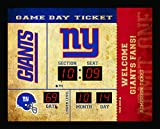 Sports Collectibles New York Giants Clock - 14x19 Scoreboard - Bluetooth