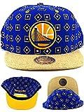 Golden State Warriors New Mitchell & Ness Potato Sack Blue Era Snapback Hat Cap