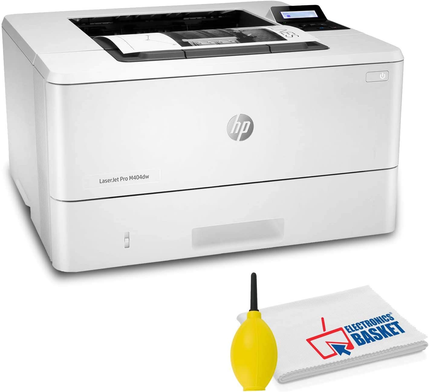HP Laserjet Pro M404dw Bundled with Dust Blower and Microfiber Cloth